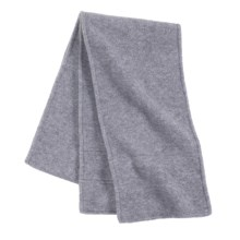 Grand Sierra Double Layer Supersoft Fleece Scarf (For Women) in Heather Grey - Closeouts