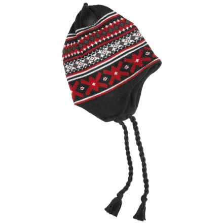 Grand Sierra Ear Flap Hat (For Little and Big Kids) in Black/Red/Grey - Closeouts