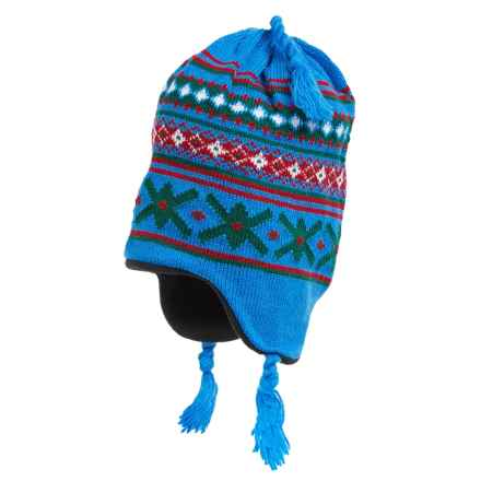 Grand Sierra Ear Flap Hat (For Little and Big Kids) in Bright Blue/Green/Red - Closeouts