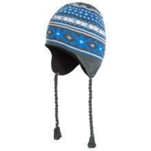 Grand Sierra Ear Flap Hat (For Little and Big Kids) in Grey/Blue/Aqua - Closeouts