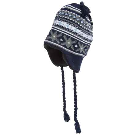 Grand Sierra Ear Flap Hat (For Little and Big Kids) in Navy/Grey/Light Blue/White - Closeouts