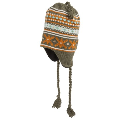 Grand Sierra Ear Flap Hat (For Little and Big Kids) in Olive/Orange/White