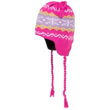 Grand Sierra Ear Flap Hat (For Little and Big Kids) in Pink/Lilac/Yellow - Closeouts