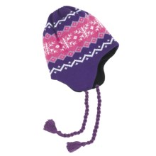 Grand Sierra Ear Flap Hat (For Little and Big Kids) in Purple/Pink/White - Closeouts