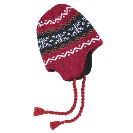 Grand Sierra Ear Flap Hat (For Little and Big Kids) in Red/Black/White