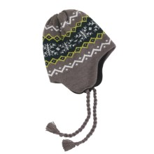 Grand Sierra Ear Flap Hat (For Youth) in Brown/Navy/Yellow - Closeouts
