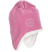 Grand Sierra Fleece Hat - Fully Lined, Ear Flaps (For Girls) in Pink - Closeouts
