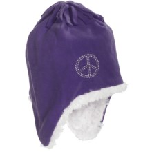 Grand Sierra Fleece Hat - Fully Lined, Ear Flaps (For Girls) in Purple - Closeouts