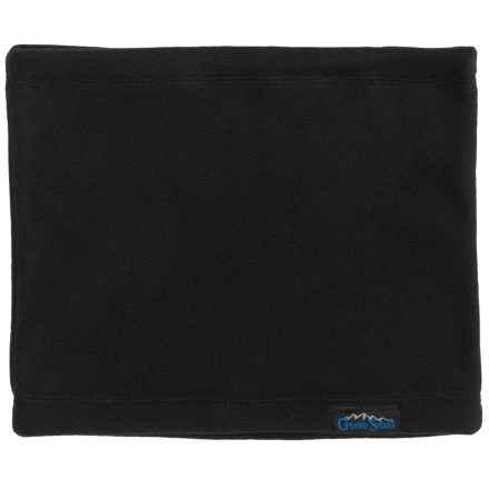 Grand Sierra Fleece Neck Gaiter (For Big Boys) in Black W Black - Closeouts