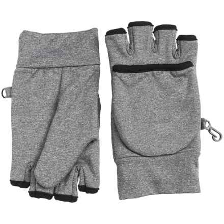 Grand Sierra Heathered Fleece Pop-Top Gloves - Convertible (For Women) in Heather Grey - Closeouts
