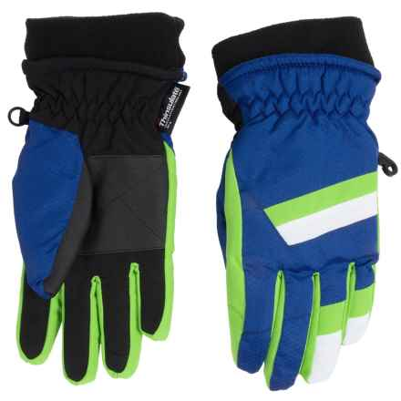 Grand Sierra Honeycomb & Tusser Thinsulate® Ski Gloves (For Little Boys) in Royal Combo - Closeouts