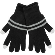 Grand Sierra Knit Gloves - Touchscreen Compatible (For Men) in Black - Closeouts