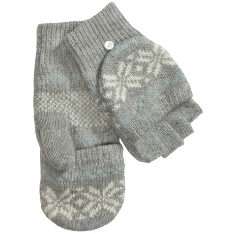 Grand Sierra Knit Mitten-Gloves (For Women) in Grey