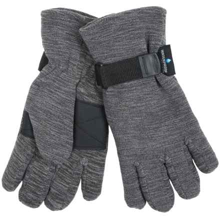 Grand Sierra Melange Fleece Gloves - Waterproof, Insulated (For Men) in Charcoal - Closeouts