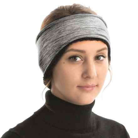 Grand Sierra Melange Fleece Headband - Fleece Lining (For Women) in Grey - Closeouts