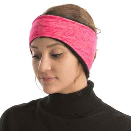 Grand Sierra Melange Fleece Headband - Fleece Lining (For Women) in Pink - Closeouts