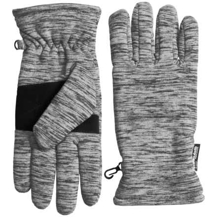 Grand Sierra Melange Thinsulate® Fleece Gloves (For Women) in Grey - Closeouts