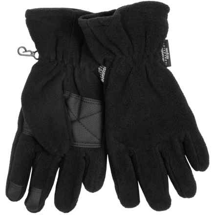 Grand Sierra Microfleece Gloves - Thinsulate® (For Men) in Black - Closeouts