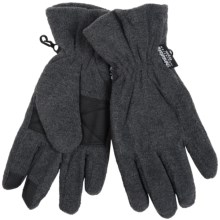 Grand Sierra Microfleece Gloves - Thinsulate® (For Men) in Charcoal - Closeouts