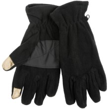Grand Sierra Microfleece Gloves - Touchscreen Compatible in Black - Closeouts