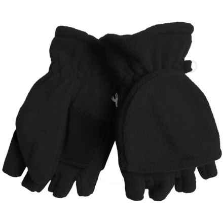 Grand Sierra Microfleece Pop-Top Gloves (For Women) in Black - Closeouts