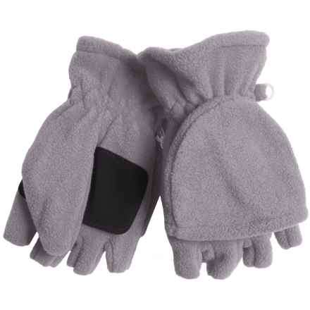 Grand Sierra Microfleece Pop-Top Gloves (For Women) in Heather Grey - Closeouts