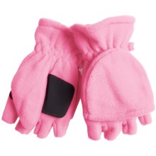 Grand Sierra Microfleece Pop-Top Gloves (For Women) in Light Pink - Closeouts