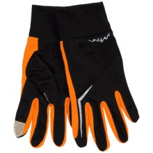 Grand Sierra Micromesh Gloves - Touchscreen Compatible (For Men) in Black/Orange - Closeouts