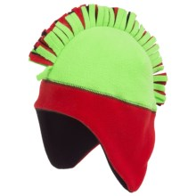 Grand Sierra Mohawk Fleece Helmet (For Boys) in Fluorescent Green - Closeouts