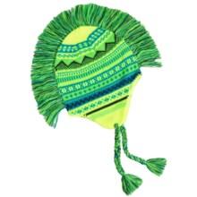Grand Sierra Peruvian Mohawk Winter Hat (For Boys) in Blue/Green - Closeouts