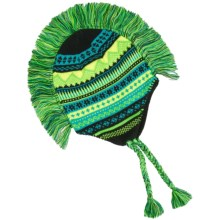 Grand Sierra Peruvian Mohawk Winter Hat (For Boys) in Green/Black - Closeouts