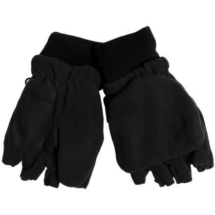 Grand Sierra Pop-Top Mitten Gloves (For Big Boys) in Black - Closeouts