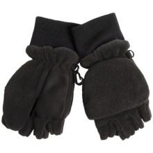 Grand Sierra Pop-Top Mitten Gloves (For Little Boys) in Black - Closeouts