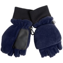 Grand Sierra Pop-Top Mitten Gloves (For Little Boys) in Navy - Closeouts