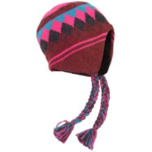 Grand Sierra Ragg Wool Beanie - Ear Flaps, Fleece Lined (For Men and Women) in Pink - Closeouts