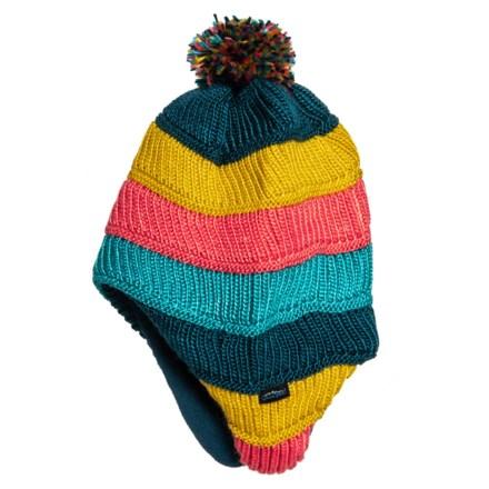89de6f26d0 Grand Sierra Raised Stripe Hat - Fleece Lined (For Little Girls) in Dark  Teal