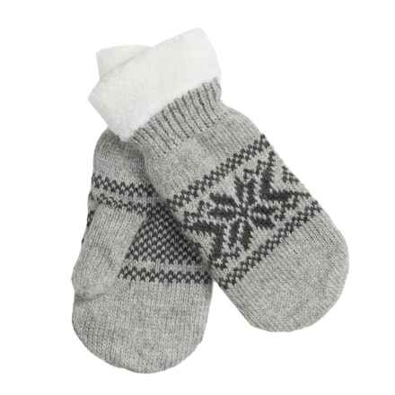 Grand Sierra Snowflake Mittens - Fleece Lining (For Women) in Light Grey - Closeouts