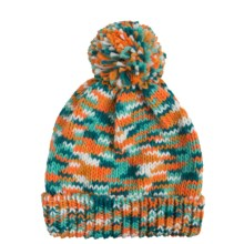 Grand Sierra Space-Dye Cuff Hat - Fleece Lined (For Little and Big Girls) in Orange Colorway - Closeouts