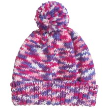 Grand Sierra Space-Dye Cuff Hat - Fleece Lined (For Little and Big Girls) in Pink Colorway - Closeouts