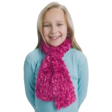 Grand Sierra Spacedye Feather Eyelash Scarf (For Girls) in Hot Pink - Closeouts