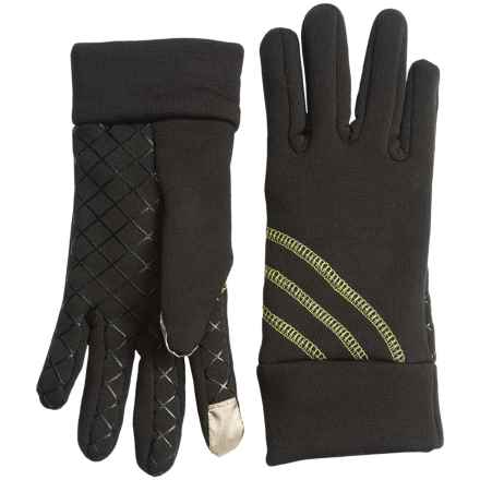 Grand Sierra Stretch Fleece Gloves - Touchscreen Compatible (For Women) in Black/Lime - Closeouts