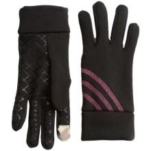 Grand Sierra Stretch Fleece Gloves - Touchscreen Compatible (For Women) in Black/Pink - Closeouts