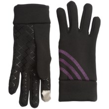 Grand Sierra Stretch Fleece Gloves - Touchscreen Compatible (For Women) in Black/Purple - Closeouts