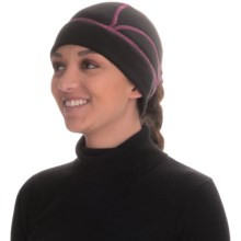 Grand Sierra Stretch Fleece Wicking Beanie - Ponytail Opening (For Women) in Black/Pink - Closeouts