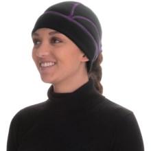 Grand Sierra Stretch Fleece Wicking Beanie - Ponytail Opening (For Women) in Black/Purple - Closeouts