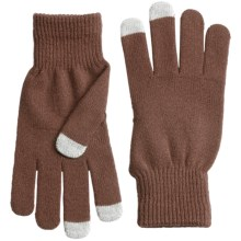 Grand Sierra Stretch Magic Gloves - Touchscreen Compatible (For Women) in Brown - Closeouts