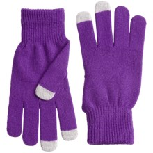 Grand Sierra Stretch Magic Gloves - Touchscreen Compatible (For Women) in Purple - Closeouts