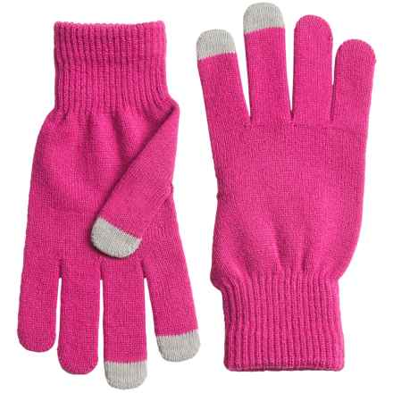 Grand Sierra Stretch Magic Gloves - Touchscreen Compatible (For Women) in Raspberry - Closeouts