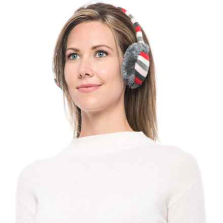 Grand Sierra Stripe Earmuffs (For Big Girls) in Grey Stripes - Closeouts