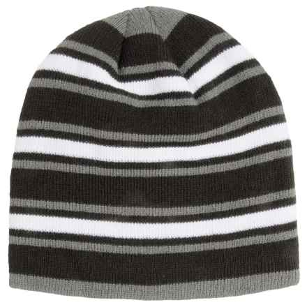 Grand Sierra Stripe Knit Beanie - Fleece Lined (For Big Boys) in Black Combo - Closeouts